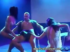 Euro MFF sex show live on stage