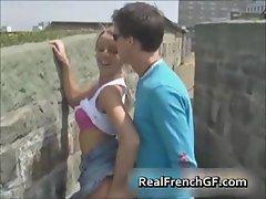 Slutty french girlfriend road trip sex part5