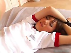 Sexy asian schoolgirl gets the vibrator part3