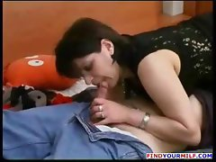 Pantyhose Russian mom and boy