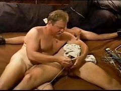 I bash my bottom's balls after I make him cum through a punishing electro stim cbt session.
