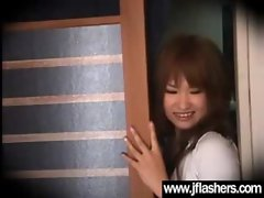 Asian Randy chicks Flashing Knockers And Getting Banged vid-27