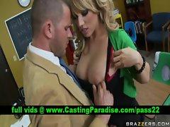 Heather Summers tempting blonde schoolgirl fellatio