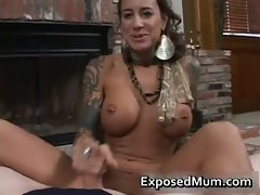 Round bigtits tattooed stepmom fireplace