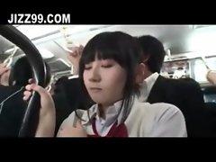schoolgirl creampie screwed by bus geek