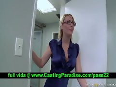 Jazy Berlin buxom light-haired grinding and gets cumshoot