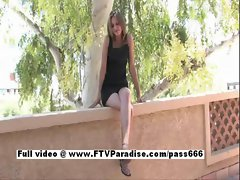 Brittni from ftv cute chicks redhead sassy teen young lady toying snatch quim outdoor