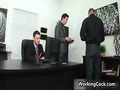 Seth Roberts banging and stroking gay sex