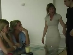 Attractive housewifes pull teenagers phallus and love it