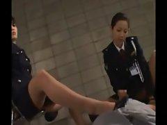 Femdom fond asian police humiliating