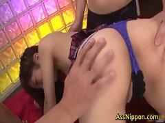 Harumi Asano Asian girl gets