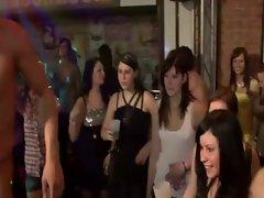 Seductive teen spit roast stripper party
