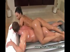Asian masseur loves rubbing and fellatio