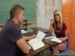 Holly Taylor gets her vagina thumped in the classroom