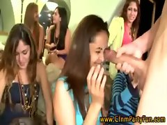 Big cock sucking party with lots of dirty ladies