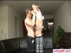 Blond college dude getting his pecker gay porno