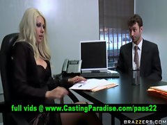 Jazy Berlin buxom blond gets muff fondled