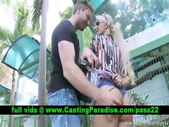 Holly Halston randy tempting blonde pornstar flashing