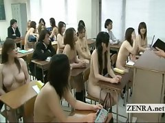 Bizarre Japan college with nude in school schoolgirls