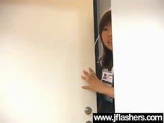 Asian Randy chicks Flashing Knockers And Getting Banged vid-28