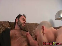 Married straight fellow gets butthole fingered gay porn