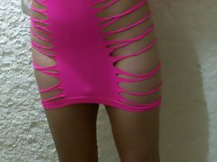Nikki Ladyboys sexual Pinkish Dress
