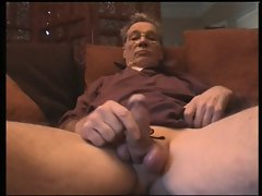 Grandpa triple cumshot