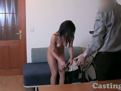 Casting HD First time facial for student