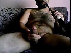 Hirsute TURK STROKIN AND SMOKIN - NO CUMSHOT