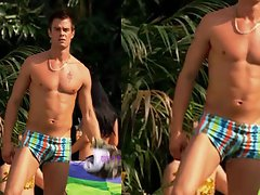Josh Duhamel in trunks