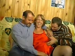 French bi amateur crazy threesome action MMF
