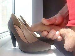 cum on my slutty wife shoes
