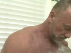 Daddy in shower