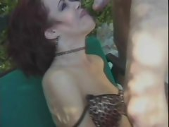 Redhead Attractive mature Ruby Shagged By The Pool