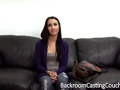 First Time Bum for Saucy teen on Casting Couch