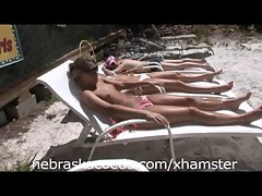 Naked Sunbathing at Florida Beach House Part 1