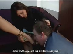 Pricilla plays the boss in domination