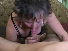 Filthy grandma gets banged by her toyboy