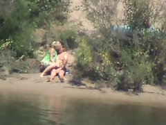 shy and sensual lass rides pecker on the river