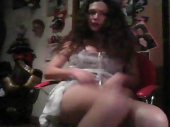 Nikki Long White Dress Webcam