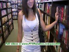 Miyu busty sexy brunette teenage public flashing tits and ass
