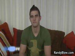 Gay clips of Brenden Butler jerking gay video