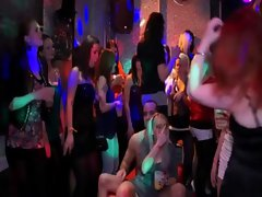 Guests suck and fuck at the sex party
