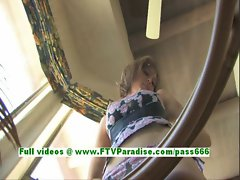 Sadie naughty blonde girl playing with boobs and milking