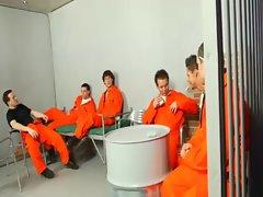Gay hard cock prison guard
