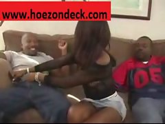 Ashley Foxxx Gets Every Hole Filled With Black Cock