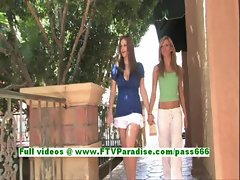Leslie and Danielle fun lesbian womans kissing and having sex