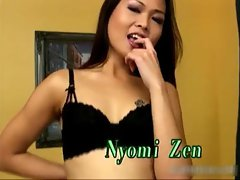 Awesome asian sucking cock and gets