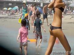 Skimpy bikini on the beach!
