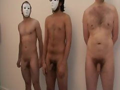 CFNM babes play lets tug the masked men